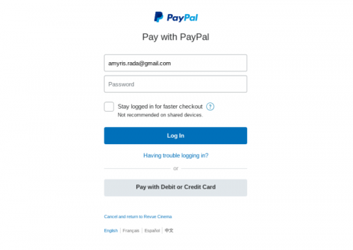 online ticket payment screen - Edited